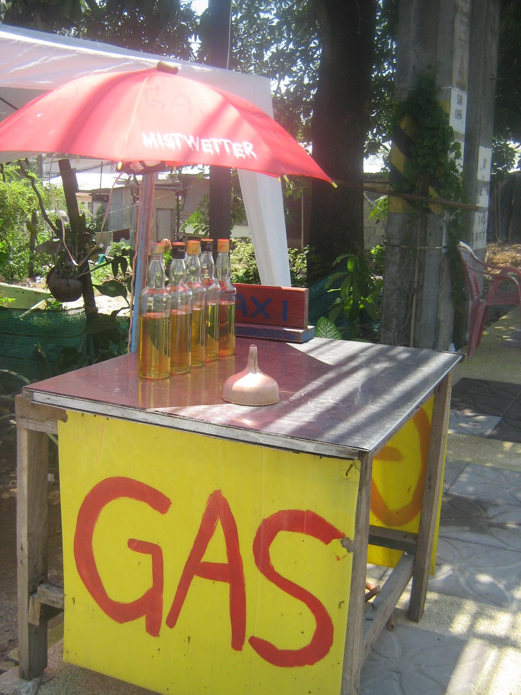 Selling gas streetside in Phuket, Thailand
