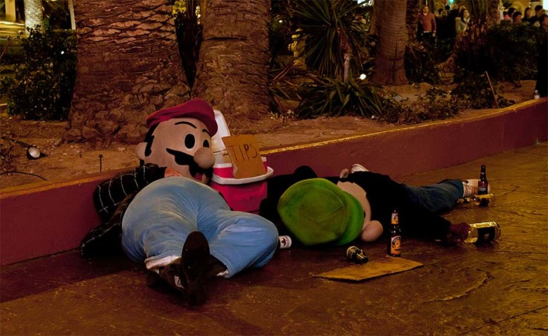 Drunk Super Mario and Luigi