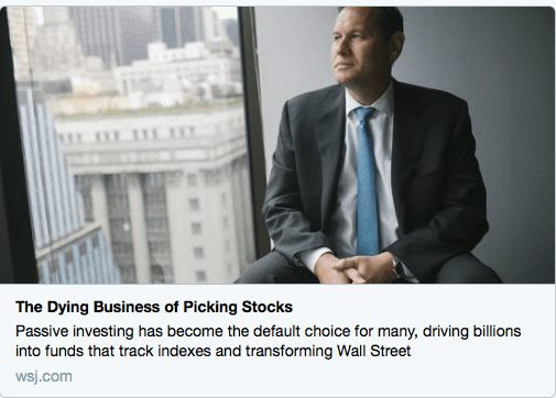 The Dying Business Of Picking Stocks
