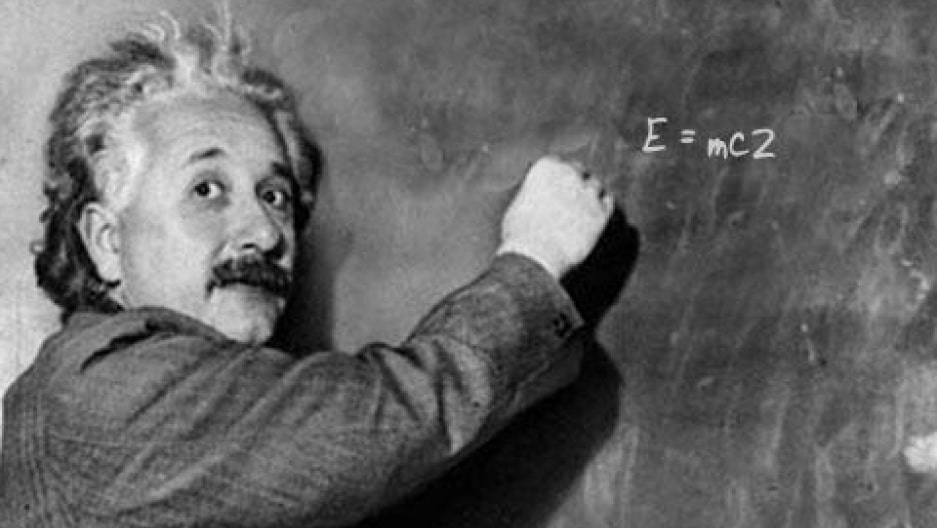 Albert Einstein Writing His Famous Equation