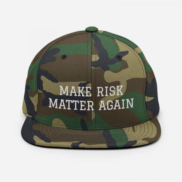 Make Risk Matter Again Hat - green camo