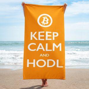 Keep Calm and HODL Towel