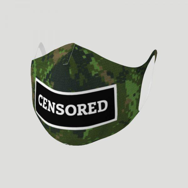 Censored Face Mask - camo