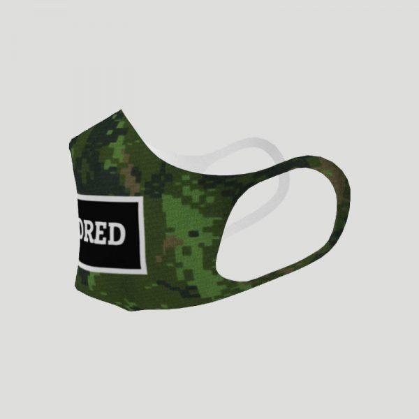 Censored Face Mask - camo, left
