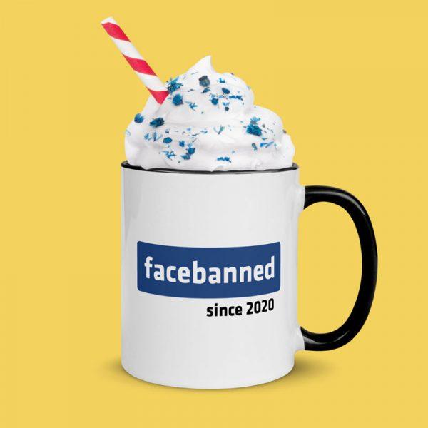 Facebanned mug - whip cream