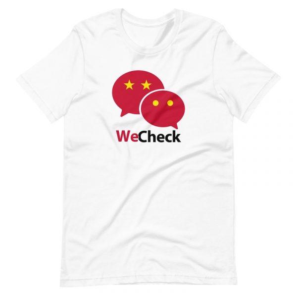 WeChat WeCheck Shirt - white