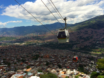 Cable cars in Medellin