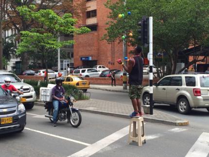 Medellin Street Juggler