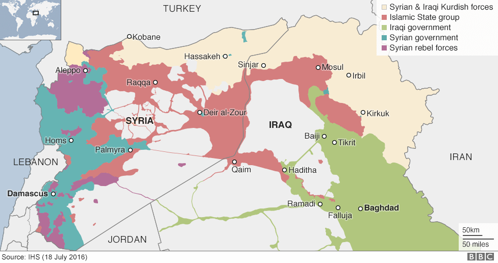 ISIS Controlled Area